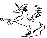 Printable rearing unicorn coloring pages