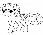 Printable cute pony unicorn 2 coloring pages