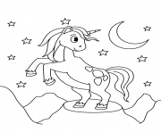 Printable midnight unicorn coloring pages