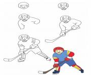 how to draw hockey on ice