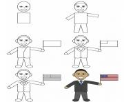 how to draw barack obama
