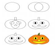 how to draw pumpkin halloween
