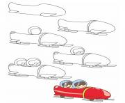 how to draw bobsleigh
