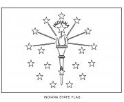 indiana flag US State coloring pages