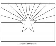 arizona flag US State coloring pages