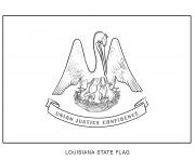 louisiana flag US State coloring pages