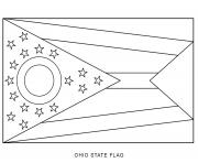 ohio flag US State coloring pages