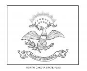 north dakota flag US State coloring pages