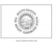 south dakota flag US State coloring pages