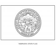nebraska flag US State coloring pages