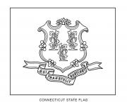 connecticut flag US State coloring pages