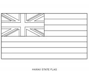hawaii flag US State coloring pages