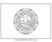 new hampshire flag US State coloring pages