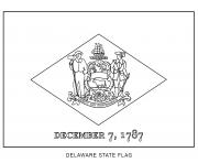 delaware flag US State coloring pages