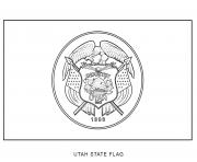 utah flag US State coloring pages