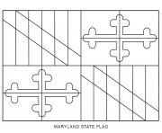 maryland flag US State coloring pages