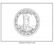 virginia flag US State coloring pages