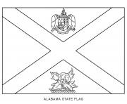 alabama flag US State coloring pages