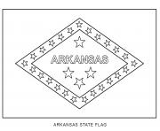 arkansas flag US State coloring pages