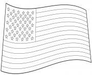 usa flag american coloring pages
