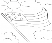 cartoon usa flag coloring pages