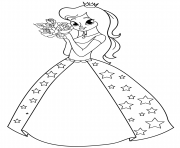 princess with roses
