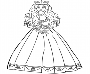 princess with roses bouquet