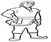 Printable Kristoff lives in the mountains coloring pages