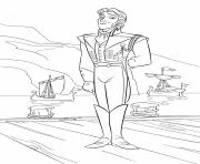 Printable Hans handsome royal neighboring kingdom coloring pages