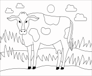 cow animal simple