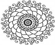 Printable mandala sympa coloring pages