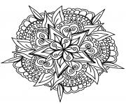 Printable cool hand drawn mandala coloring pages