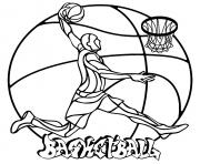 Printable mandala easy basketball coloring pages