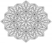 Printable mandala zen antistress flowers 9 coloring pages