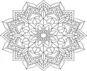 Printable floral mandala easy coloring pages