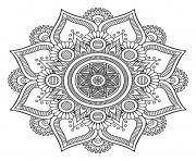 Printable mandala big flower 1 coloring pages