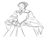 Printable queen elizabeth 1 young united kingdom coloring pages