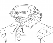 Printable william shakespeare united kingdom coloring pages