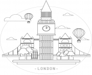 Printable london the capital united kingdom coloring pages