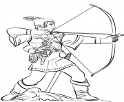Printable robin hood statue nottingham castle united kingdom coloring pages