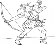 Printable robin hood united kingdom coloring pages