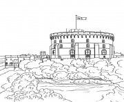 Printable windsor castle united kingdom coloring pages