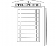 Printable red telephone box united kingdom coloring pages
