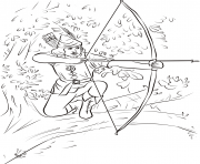 Printable robin hood sitting on a tree branch united kingdom coloring pages