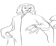 Printable isaac newton united kingdom coloring pages