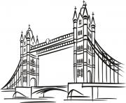 Printable tower bridge in london united kingdoms coloring pages