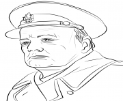 Printable winston churchill united kingdom coloring pages