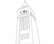 Printable big ben united kingdom coloring pages