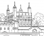Printable tower of london united kingdom coloring pages