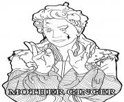 Mother Ginger Disney The Nutcracker coloring pages